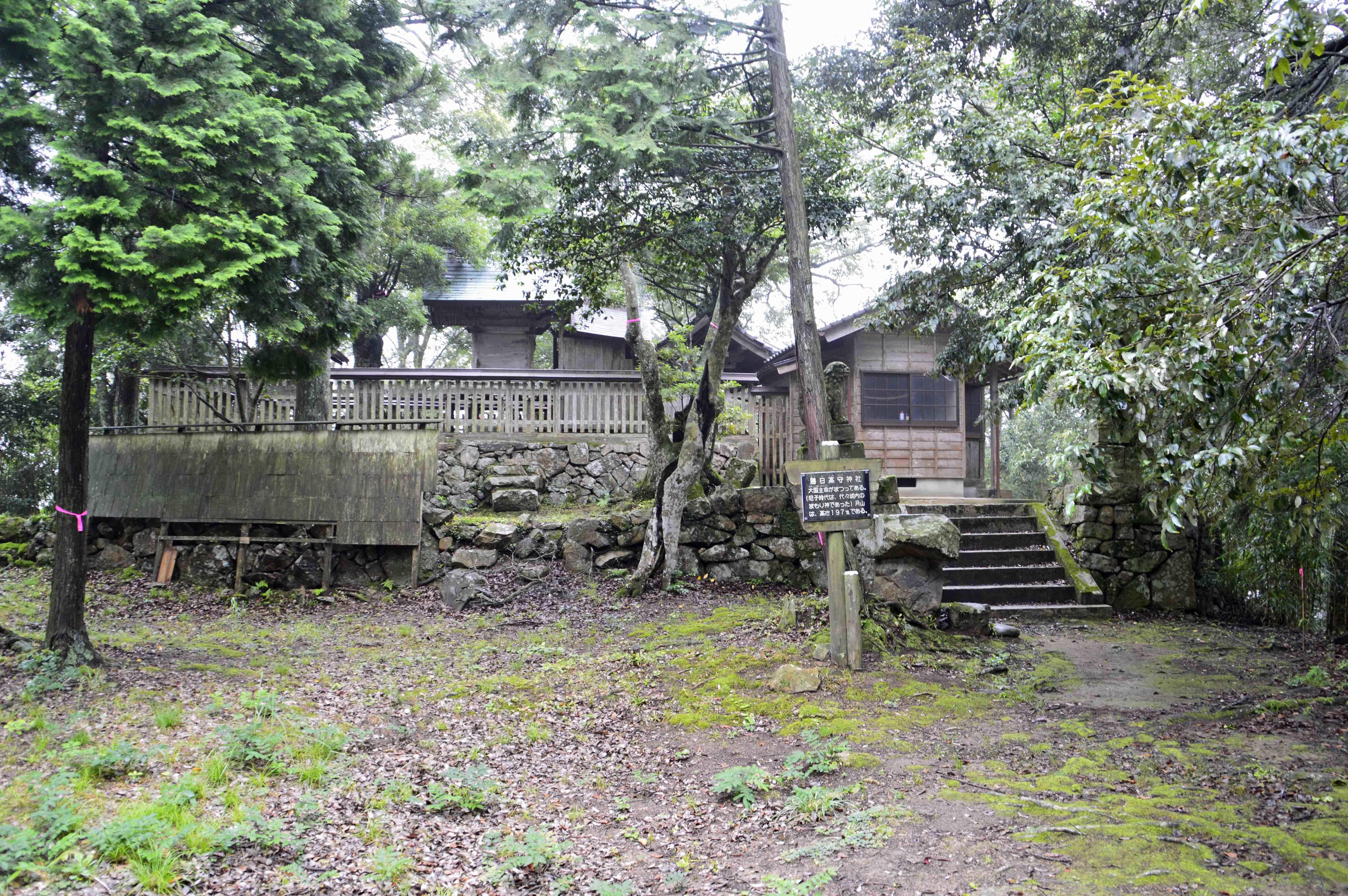 月山富田城 神社
