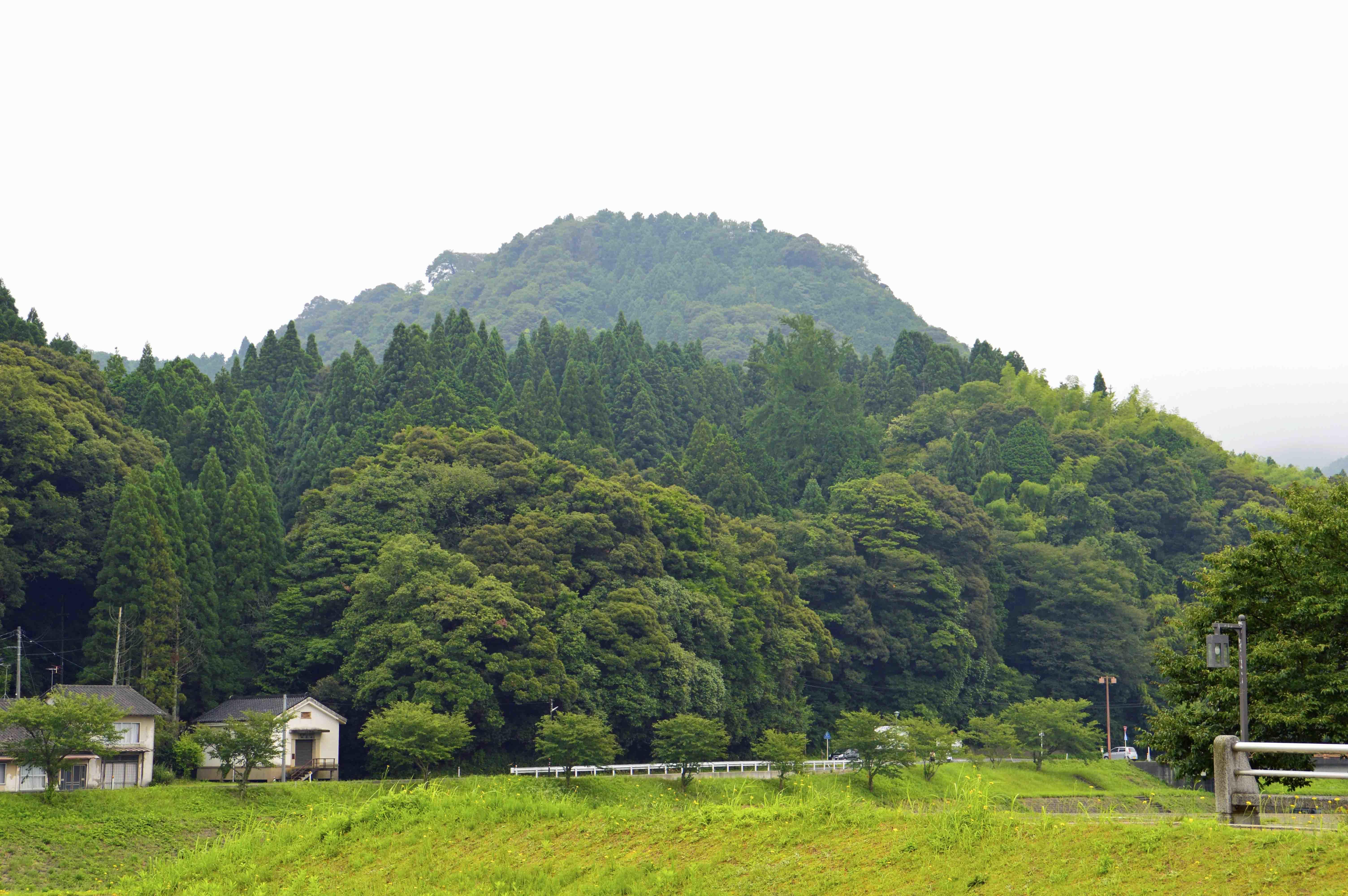 月山富田城 遠景
