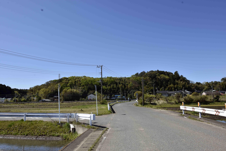 平岡城遠景 北側から