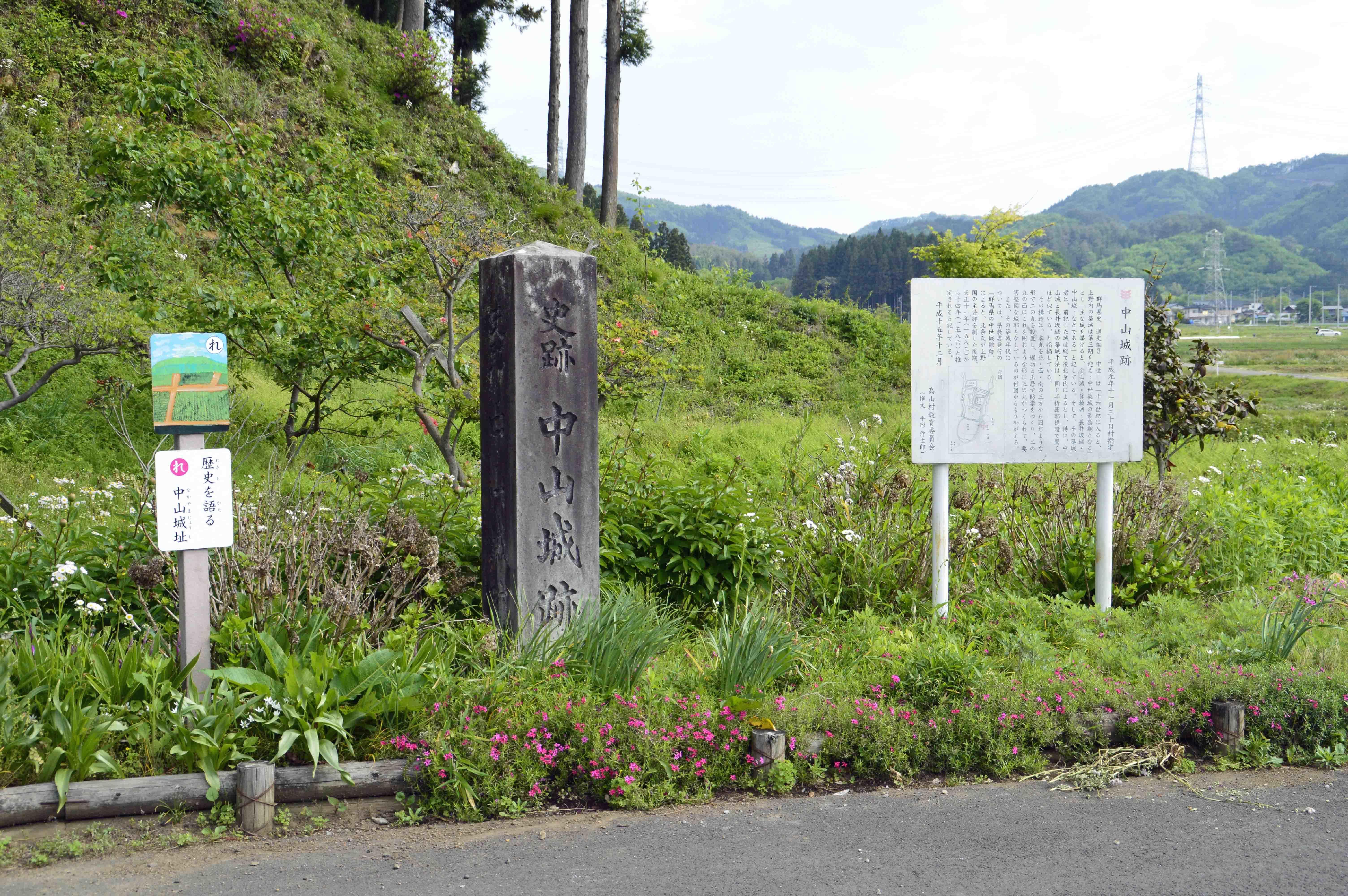 1城址碑と説明板
