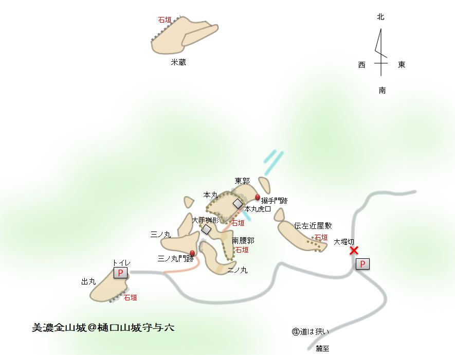 改 美濃金山城イメ-ジ図
