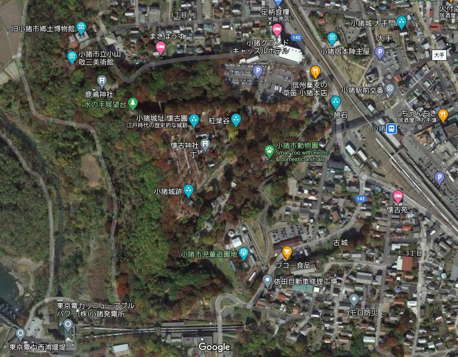 小諸城 Googleマップ