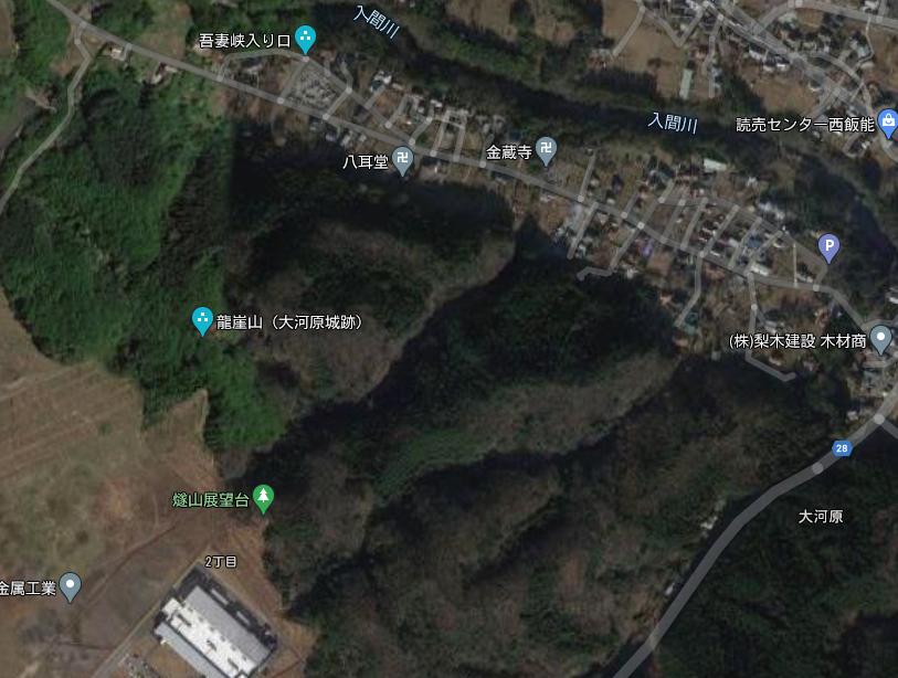Googleマップ 大河原城