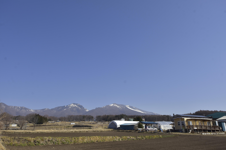 1 城から見える浅間山