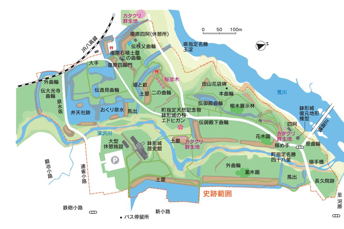 2 鉢形城 マップ
