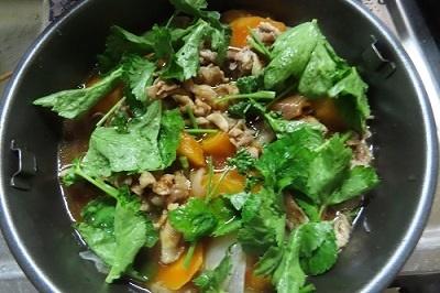 夕食野菜と牛肉の蒸し物5 8