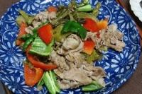 高菜と豚肉の煮込み