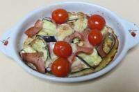 茄子とベーコンのチーズ焼き