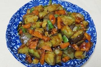 水茄子中華風炒め物