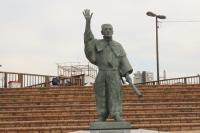 呂宋助左エ門の像