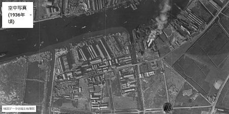 木津川沿い1936年頃
