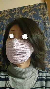 写真マスク着用
