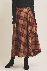 ボタニーチェックフレアスカート
